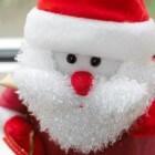 Mrs. Claus, kerstelfen, rendieren en Rudolf