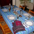 Vóór de Kidoesj van de sjabbatsmaaltijdviering