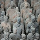 Chinese terracottaleger voor bange keizer