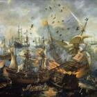 Schilderij Slag bij Gibraltar