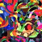 Abstracte kunst met beroemde kunstenaars
