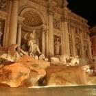 De beroemde Trevifontein in Rome