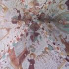 Eeuwenoude fresco's in de Elmelunde kerk op Møn (Denemarken)