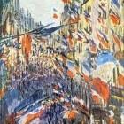 """Schilderkunst: """"Rue Saint-Denis, fête du 30 juin 1878"""" Monet"""