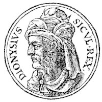 Dionysius I / Bron: Published by Guillaume Rouille (1518? 1589), Wikimedia Commons (Publiek domein)