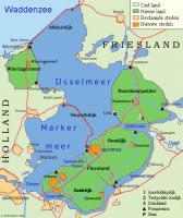 De polders zónder de Markerwaard / Bron: Dedalus, Wikimedia Commons (CC BY-SA-3.0)