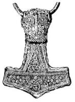 Thors hamer als amulet / Bron: Publiek domein, Wikimedia Commons (PD)