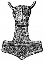 Thors hamer Mjölnir / Bron: Publiek domein, Wikimedia Commons (PD)