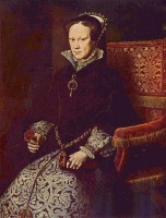 Mary I Tudor ook wel Bloody Mary / Bron: Antonis Mor, Wikimedia Commons (Publiek domein)