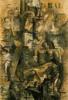 Braque, Portugese vrouw (1911) / Bron: Hannahgrov, Flickr (CC BY-2.0)
