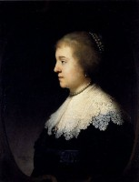 Amalia van Solms / Bron: Rembrandt, Wikimedia Commons (Publiek domein)