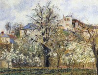 Lente in Pontoise / Bron: Camille Pissarro, Wikimedia Commons (Publiek domein)