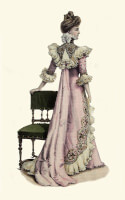 Tea gown 1899 / Bron: Publiek domein, Wikimedia Commons (PD)