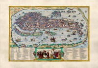 Venetië door Bolgnino Zaltieri 1565 / Bron: historic-maps.de, Wikimedia Commons (Publiek domein)